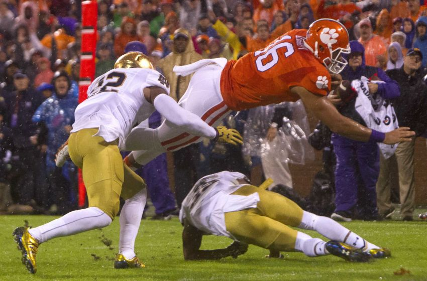 fbs schedule notre dame football score today