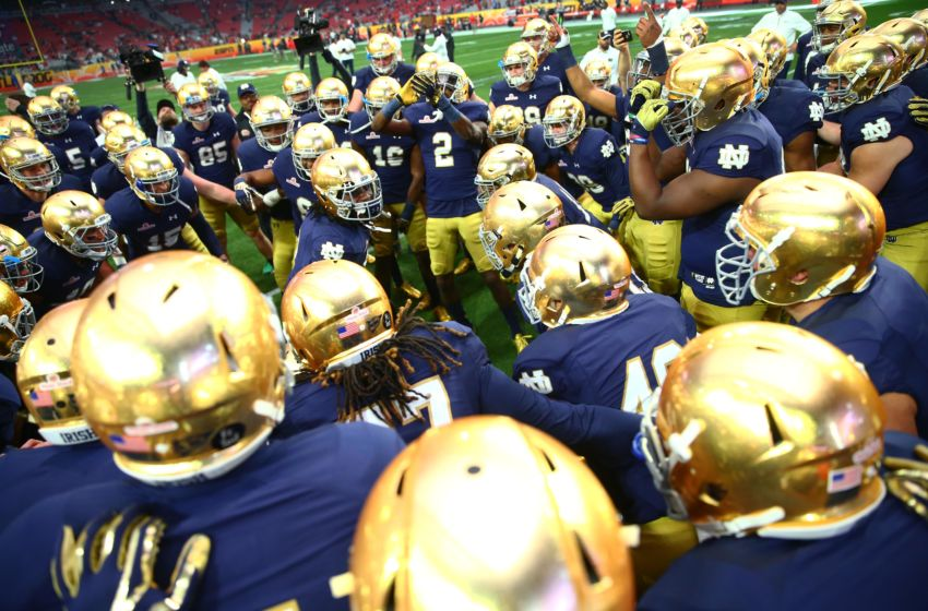 national college football game who won the notre dame football game today