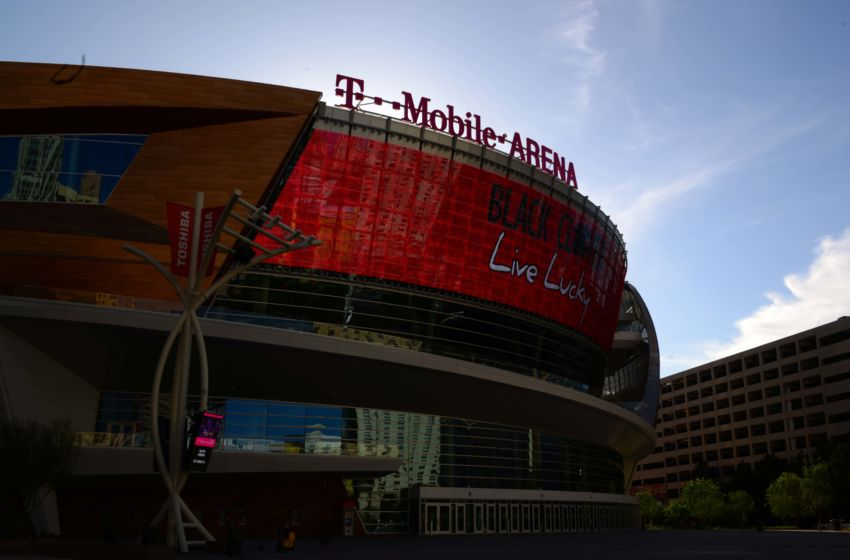Vegas Golden Knights: General view of the T-Mobile Arena adjacent to the Las Vegas strip. Mandatory Credit: Kirby Lee-USA TODAY Sports