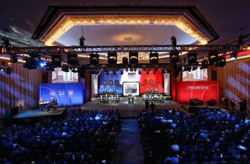 17, 2016; New York, NY, USA; General view during the NBA draft lottery ...
