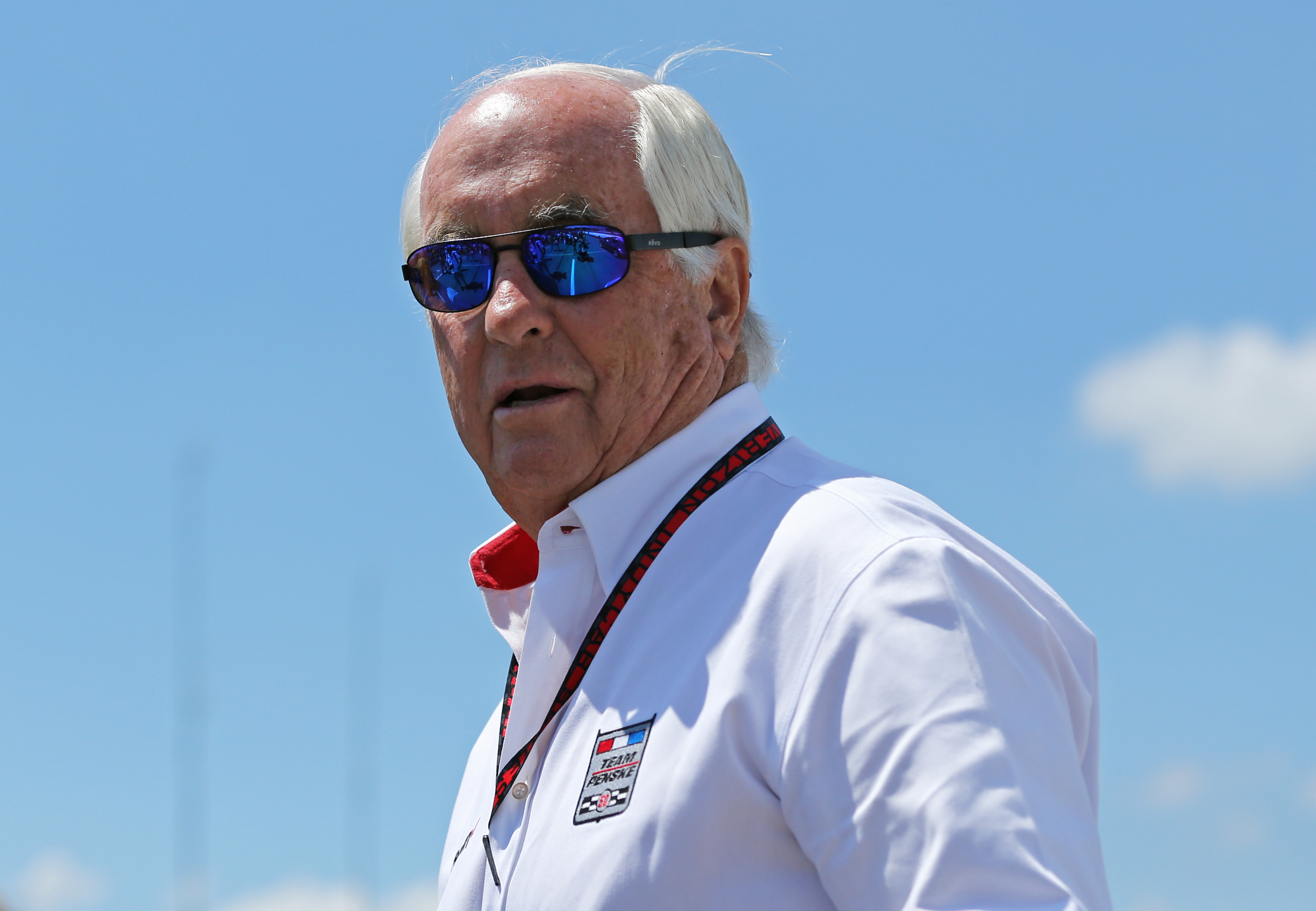 Jul 31, 2016; Lexington, OH, USA; Roger Penske looks on during the Honda Indy 200 at Mid-Ohio Sports Car Course. Mandatory Credit: Aaron Doster-USA TODAY Sports
