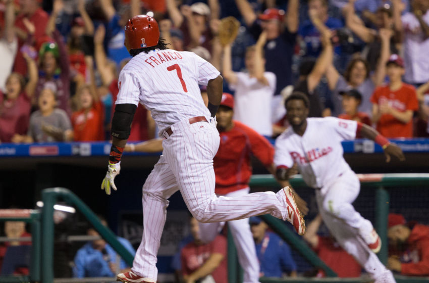 Fans Will Be Expecting More Walk-Off Hits This Year from Franco. Photo by Bill Streicher - USA TODAY Sports.