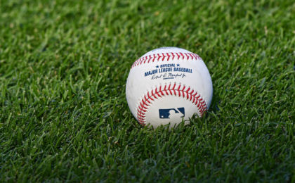 Sep 30, 2016; Kansas City, MO, USA; A general view of a baseball prior to a game between the Kansas City Royals and the Cleveland Indians at Kauffman Stadium. Mandatory Credit: Peter G. Aiken-USA TODAY Sports