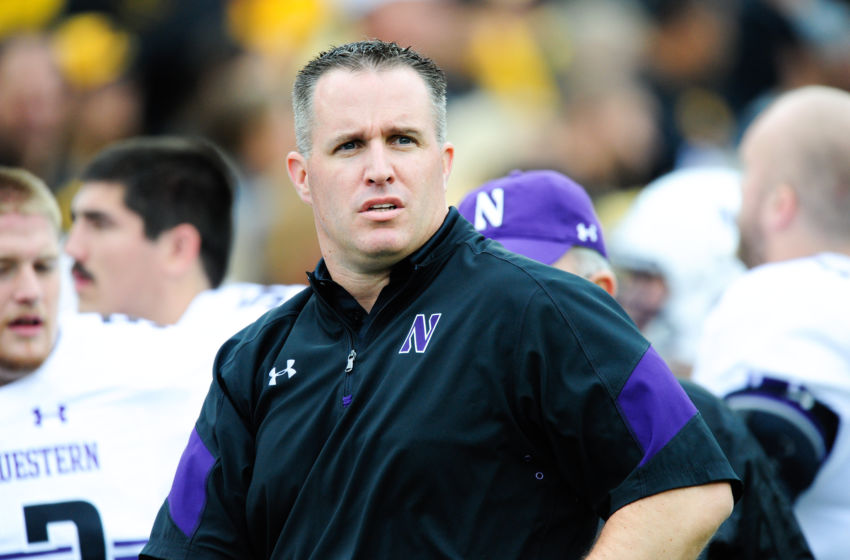 Pat Fitzgerald Celebrates With Northwestern After Ncaa
