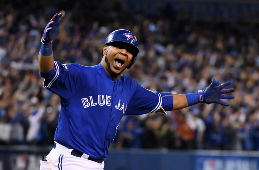 Oct 4, 2016; Toronto, Ontario, CAN; Toronto Blue Jays designated hitter <a rel=