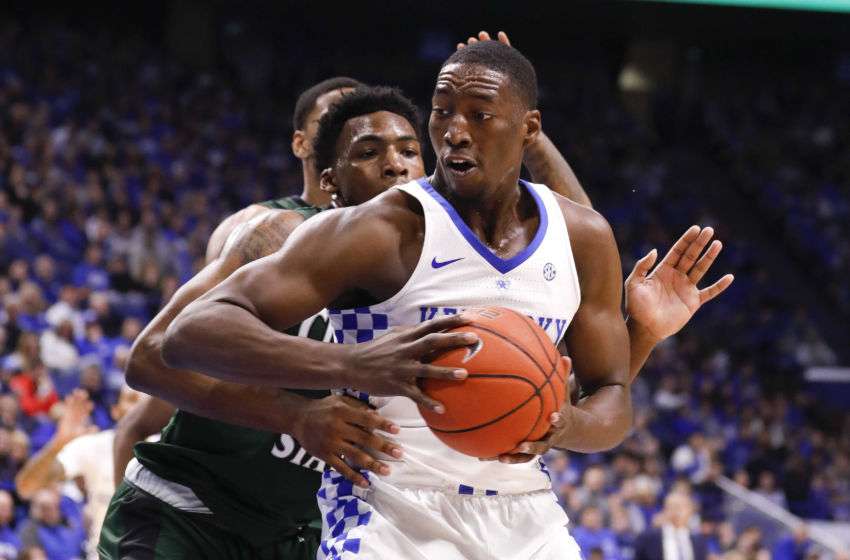 Nov 23, 2016; Lexington, KY, USA; Kentucky Wildcats forward Edrice Bam Adebayo (3) shoots the ball against the Cleveland State Vikings in the first half at Rupp Arena. Mandatory Credit: Mark Zerof-USA TODAY Sports