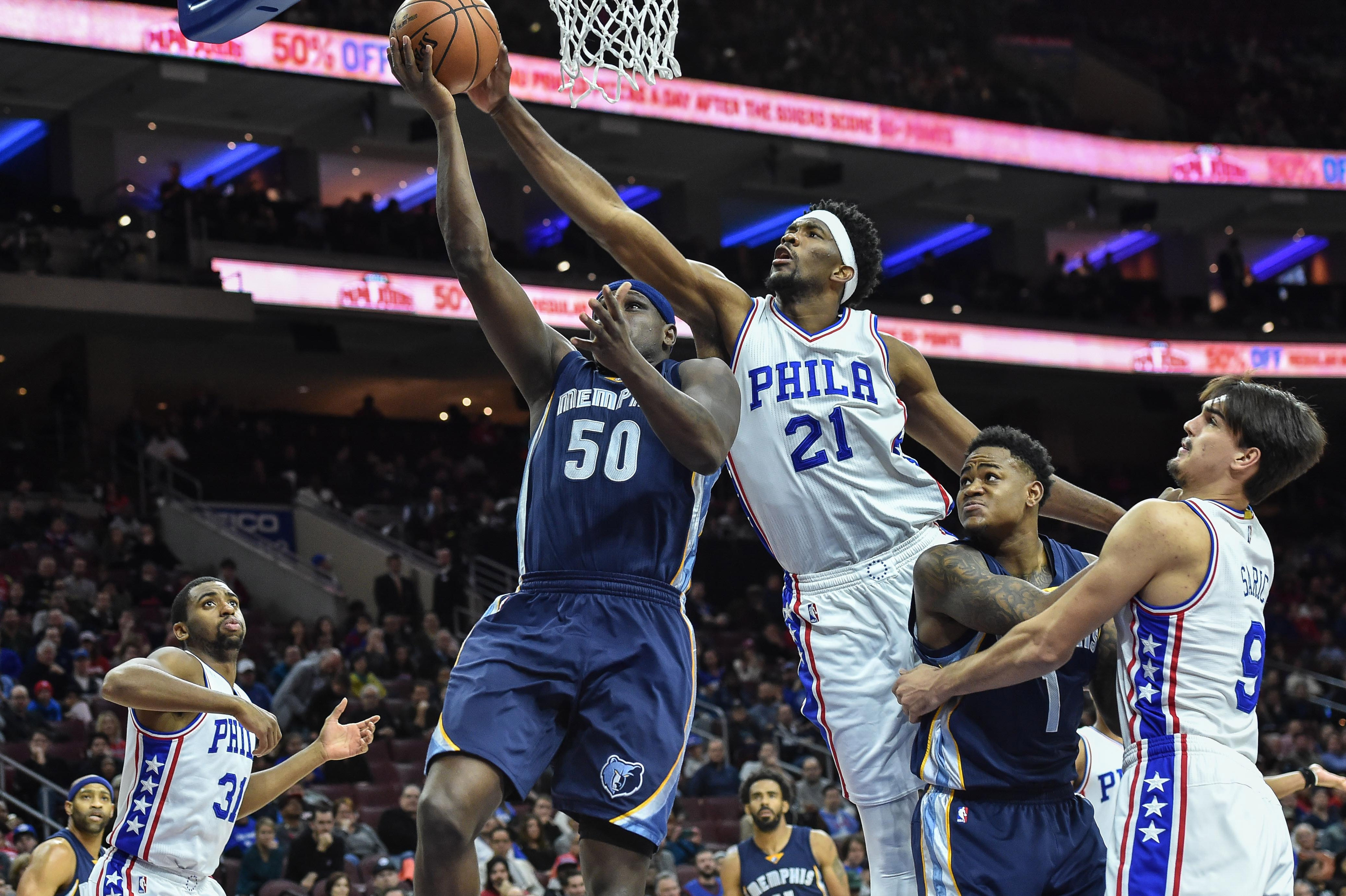 Joel Embiid is providing an immediate impact in FanDuel NBA league play as a rookie.