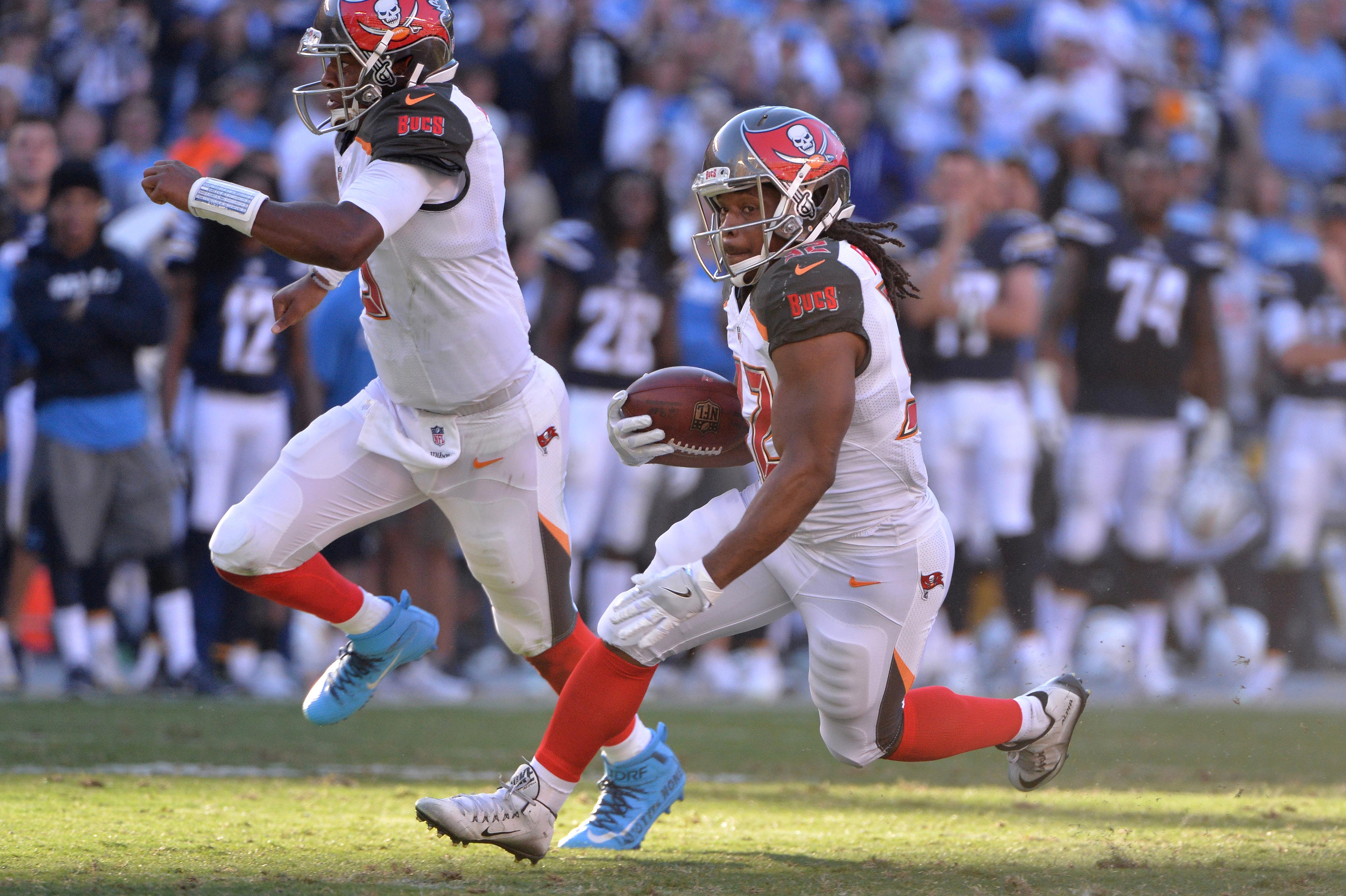 Dec 4, 2016; San Diego, CA, USA; Tampa Bay Buccaneers running back <a rel=