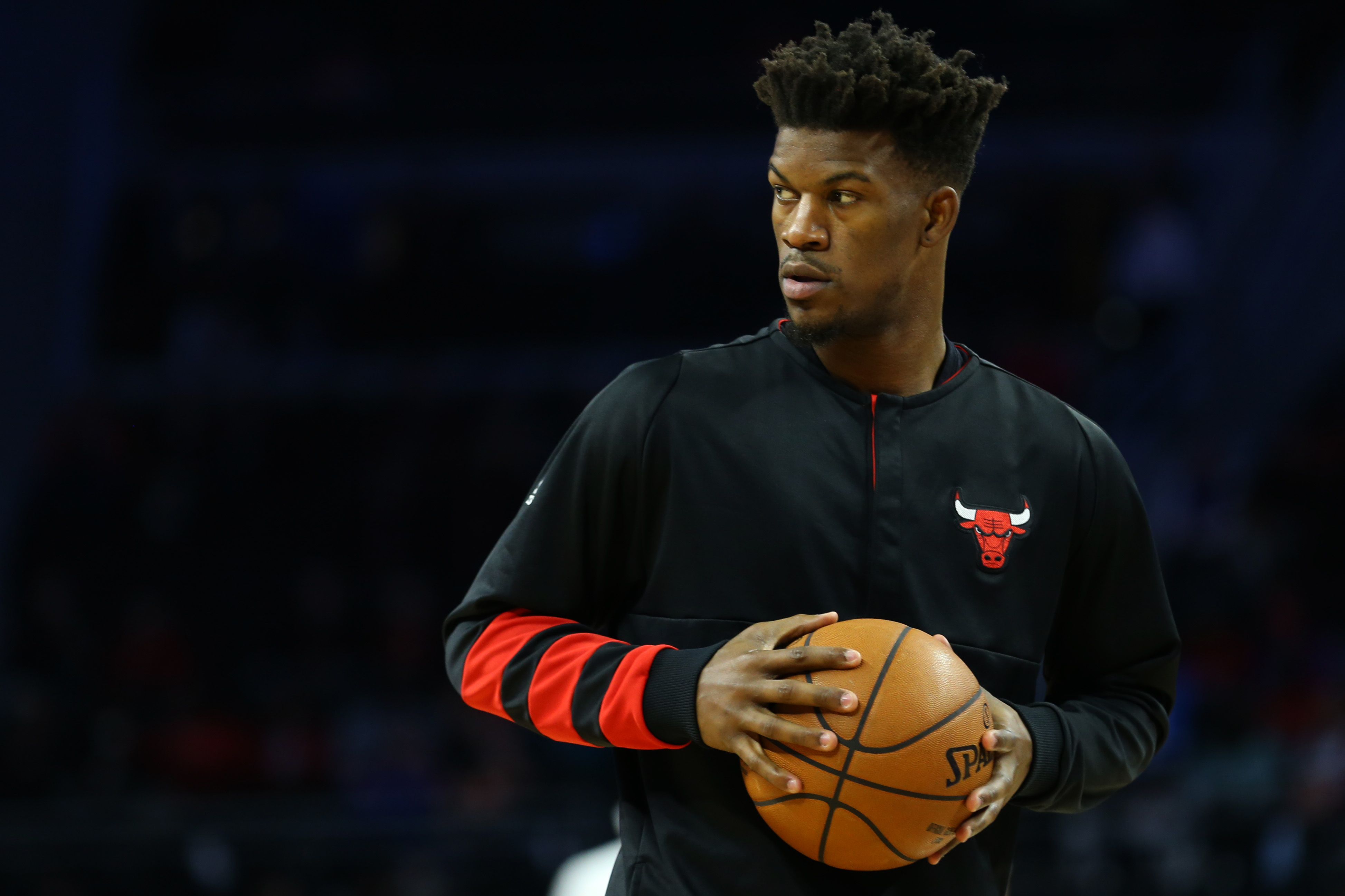 Dec 6, 2016; Auburn Hills, MI, USA; Chicago Bulls forward Jimmy Butler (21) against the Detroit Pistons at The Palace of Auburn Hills. The Pistons won 102-91.Mandatory Credit: Aaron Doster-USA TODAY Sports