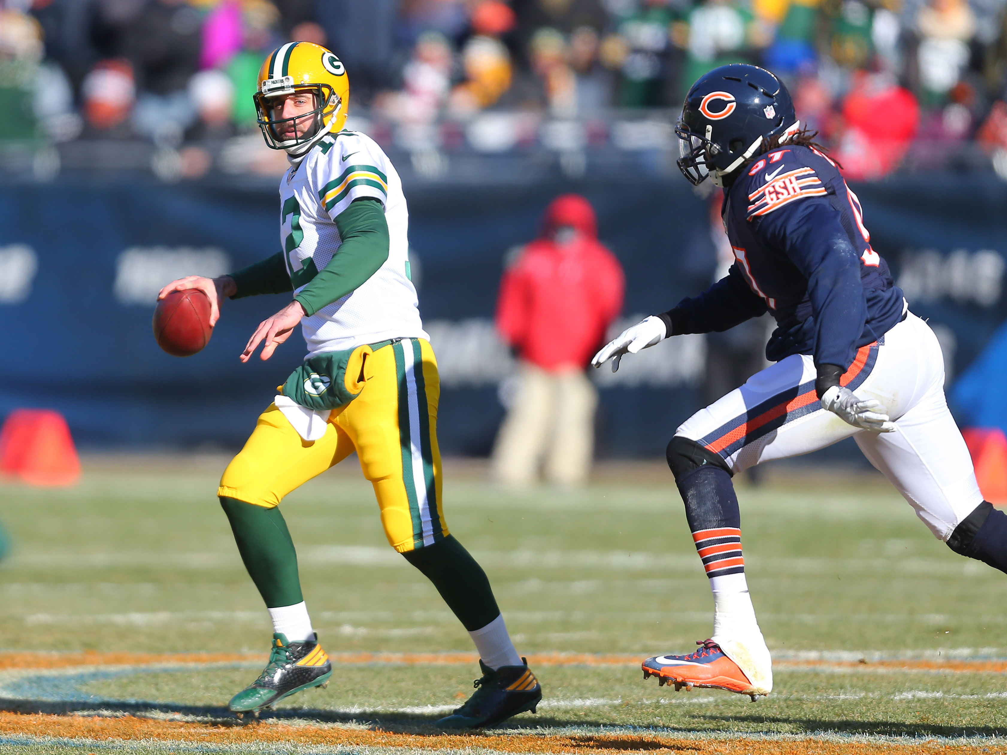 nfl cbs bears packers over under