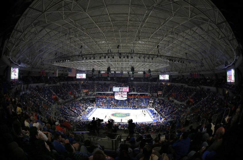 Dec 21, 2016; Gainesville, FL, USA; An overall view of Exactech Arena at the Stephen C. O'Connell during the second half between the Florida Gators and Arkansas Little Rock Trojans. Florida Gators defeated the Arkansas Little Rock Trojans 94-71. Mandatory Credit: Kim Klement-USA TODAY Sports