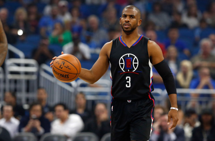Dec 14, 2016; Orlando, FL, USA; LA Clippers guard Chris Paul (3) against the Orlando Magic during the first quarter at Amway Center. Mandatory Credit: Kim Klement-USA TODAY Sports