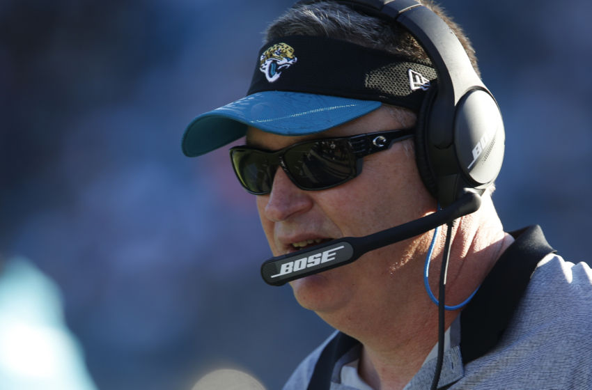 Dec 24, 2016; Jacksonville, FL, USA; Jacksonville Jaguars interim head coach Doug Marrone on the sidelines during the second half of an NFL Football game against the Tennessee Titans at EverBank Field.The Jaguars won 38-17. Mandatory Credit: Reinhold Matay-USA TODAY Sports