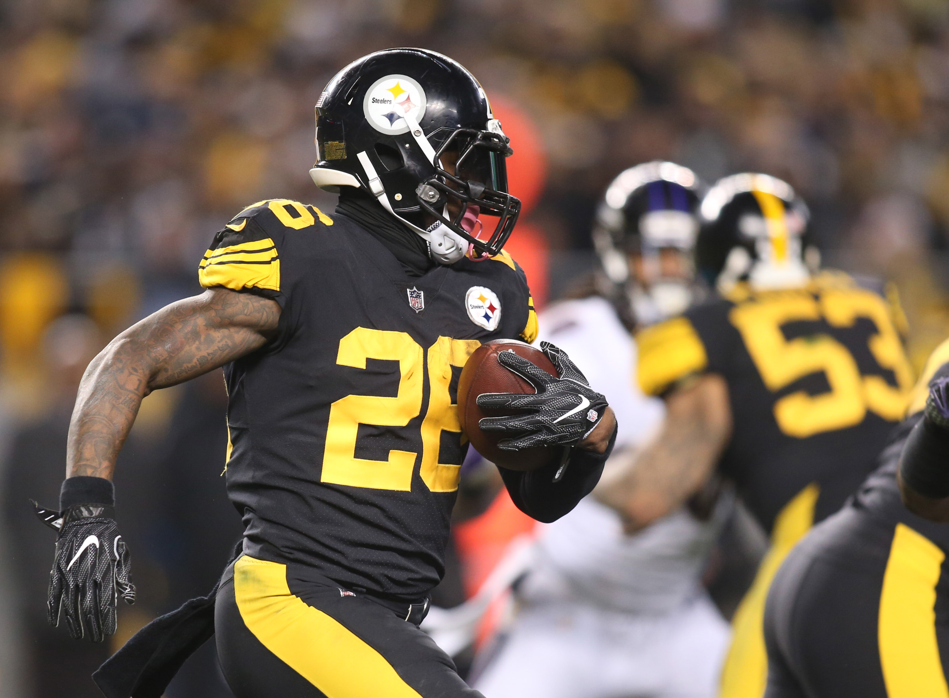 Odell beckham jr leveon bell wonder if theyd get fined for same celebration as ezekiel elliott dallas news - Dec 25 2016 Pittsburgh Pa Usa Pittsburgh Steelers Running Back Le Veon Bell 26 Rushes The Ball Against The Baltimore Ravens During The Second Quarter