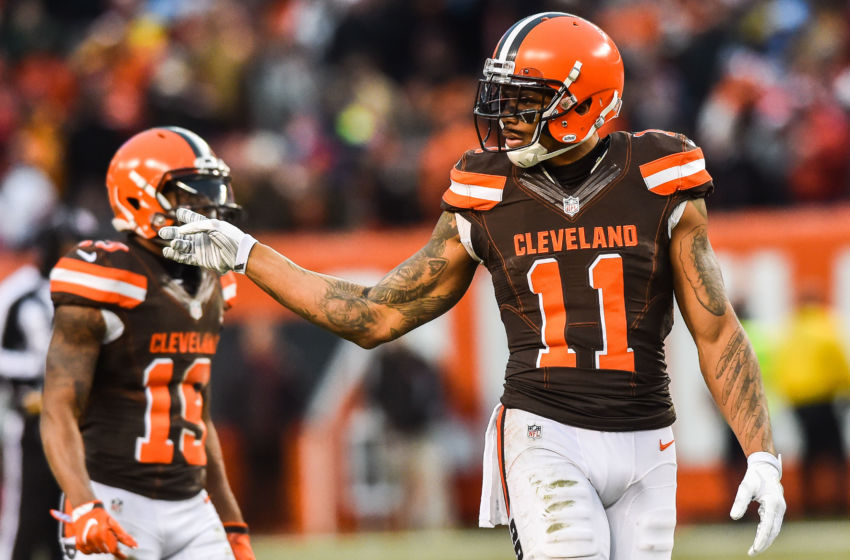Dec 24, 2016; Cleveland, OH, USA; Cleveland Browns wide receiver Terrelle Pryor (11) during the second half at FirstEnergy Stadium. The Browns won 20-17. Mandatory Credit: Ken Blaze-USA TODAY Sports