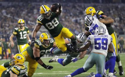 Green Bay Packers running back Ty Montgomery. William Glasheen/The Post-Crescant via USA TODAY NETWORK