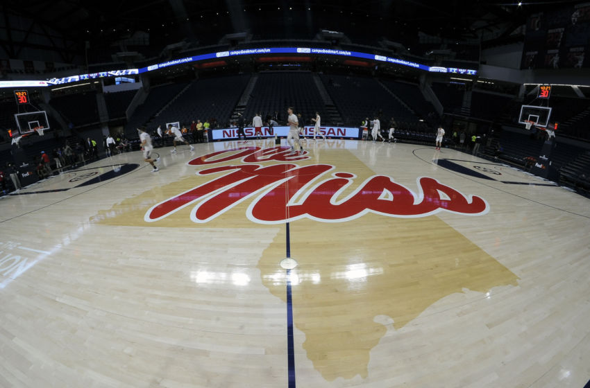 Jan 17, 2017; Oxford, MS, USA; A general view center court prior to the game between the Mississippi Rebels and the Tennessee Volunteers at The Pavilion at Ole Miss. Mandatory Credit: Justin Ford-USA TODAY Sports