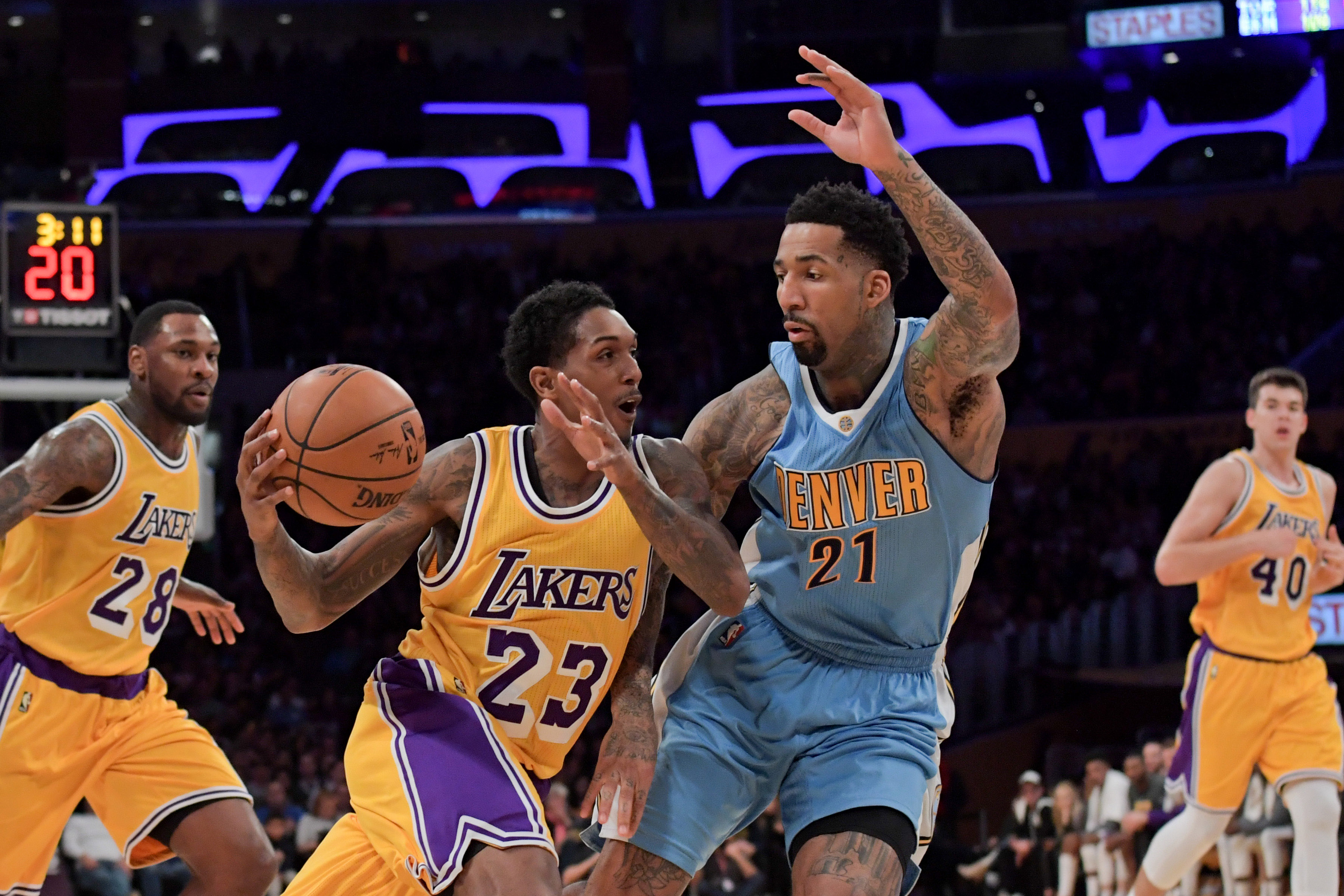 Nba Basketball Los Angeles Lakers: Orlando Magic: Wilson Chandler The Answer