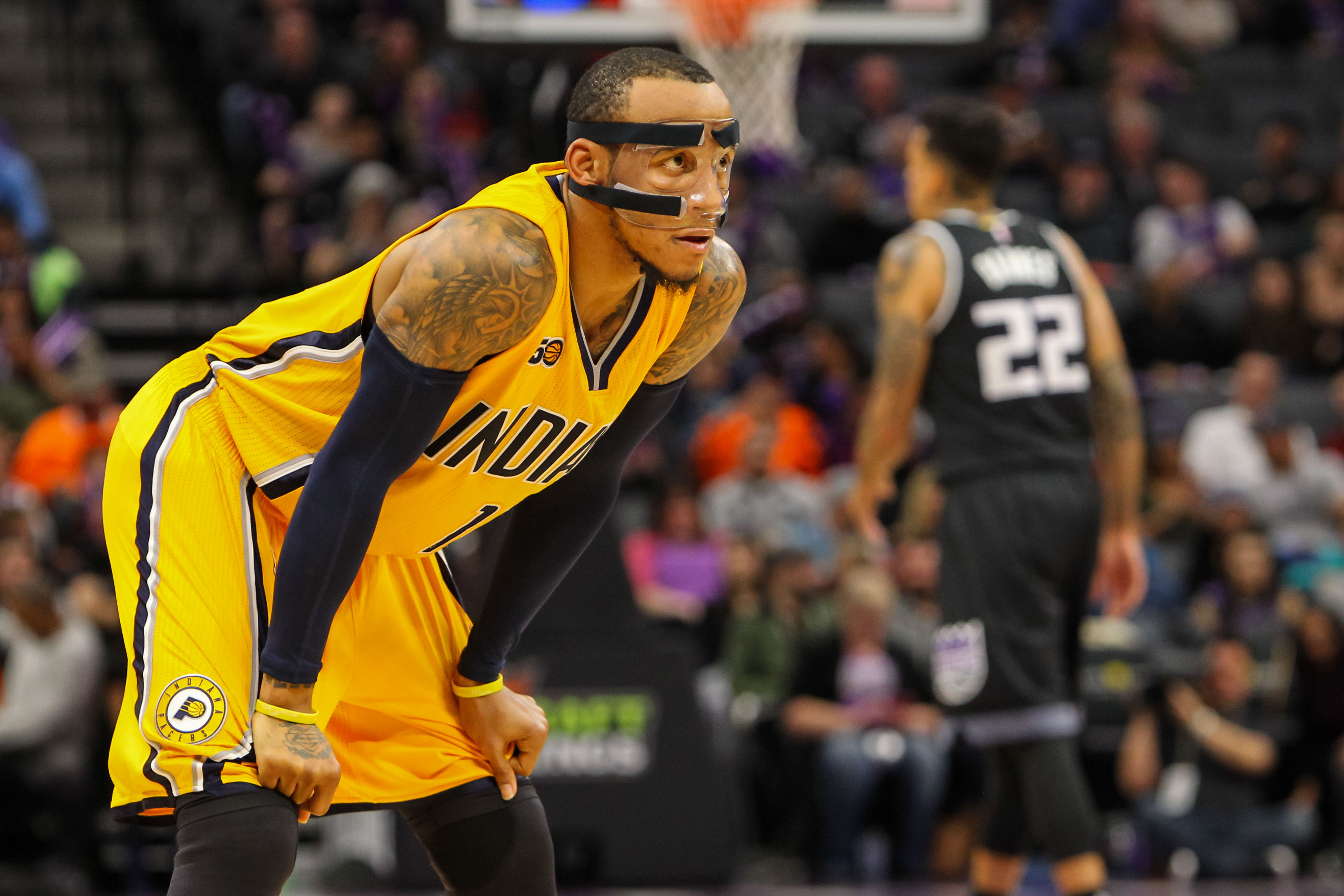 Jan 18, 2017; Sacramento, CA, USA; Indiana Pacers guard Monta Ellis (11) during the fourth quarter against the Sacramento Kings at Golden 1 Center. The Pacers defeated the Kings 106-100. Mandatory Credit: Sergio Estrada-USA TODAY Sports