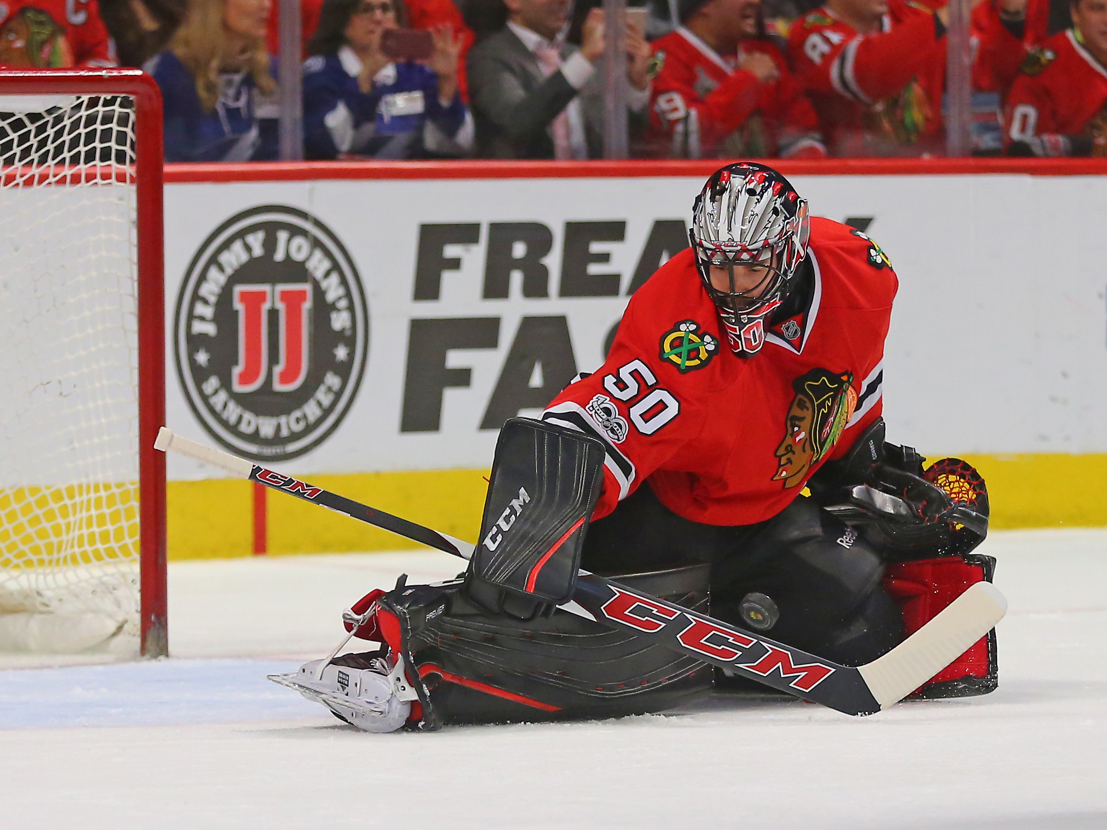 low priced 7300a 7eeb4 NHL Power Rankings  Chicago Blackhawks goalie Corey Crawford (50) makes a  save during