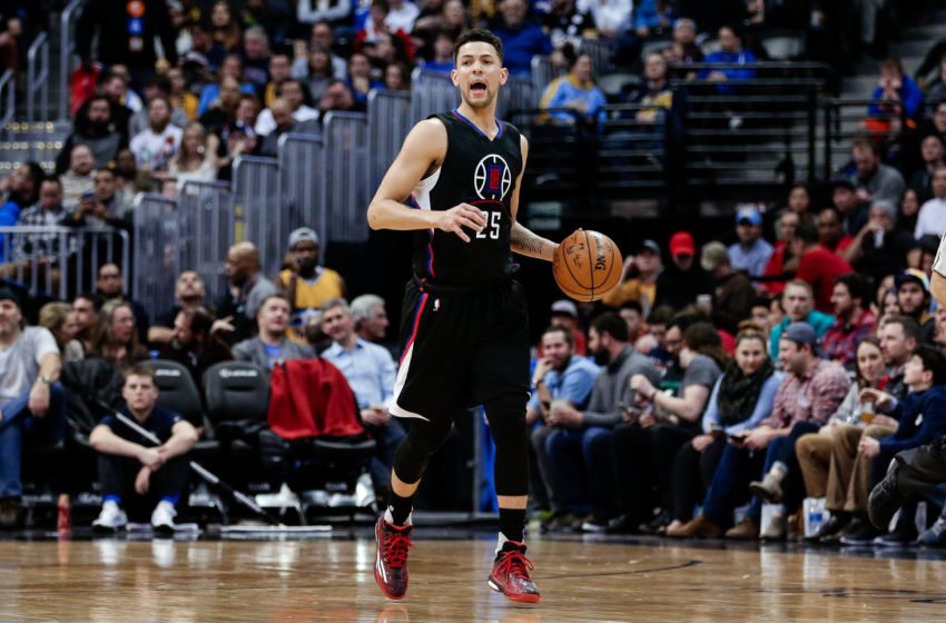 Jan 21, 2017; Denver, CO, USA; Los Angeles Clippers guard Austin Rivers (25) dribbles the ball up court in the third quarter against the Denver Nuggets at the Pepsi Center. The Nuggets won 123-98. Mandatory Credit: Isaiah J. Downing-USA TODAY Sports