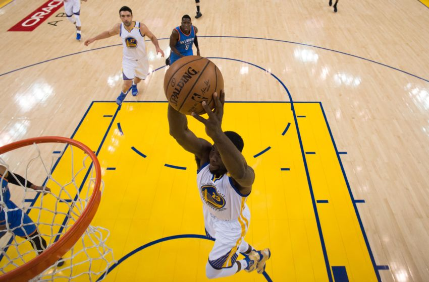 January 18, 2017; Oakland, CA, USA; Golden State Warriors forward Draymond Green (23) during the game against the Oklahoma City Thunder at Oracle Arena. The Warriors defeated the Thunder 121-100. Mandatory Credit: Kyle Terada-USA TODAY Sports