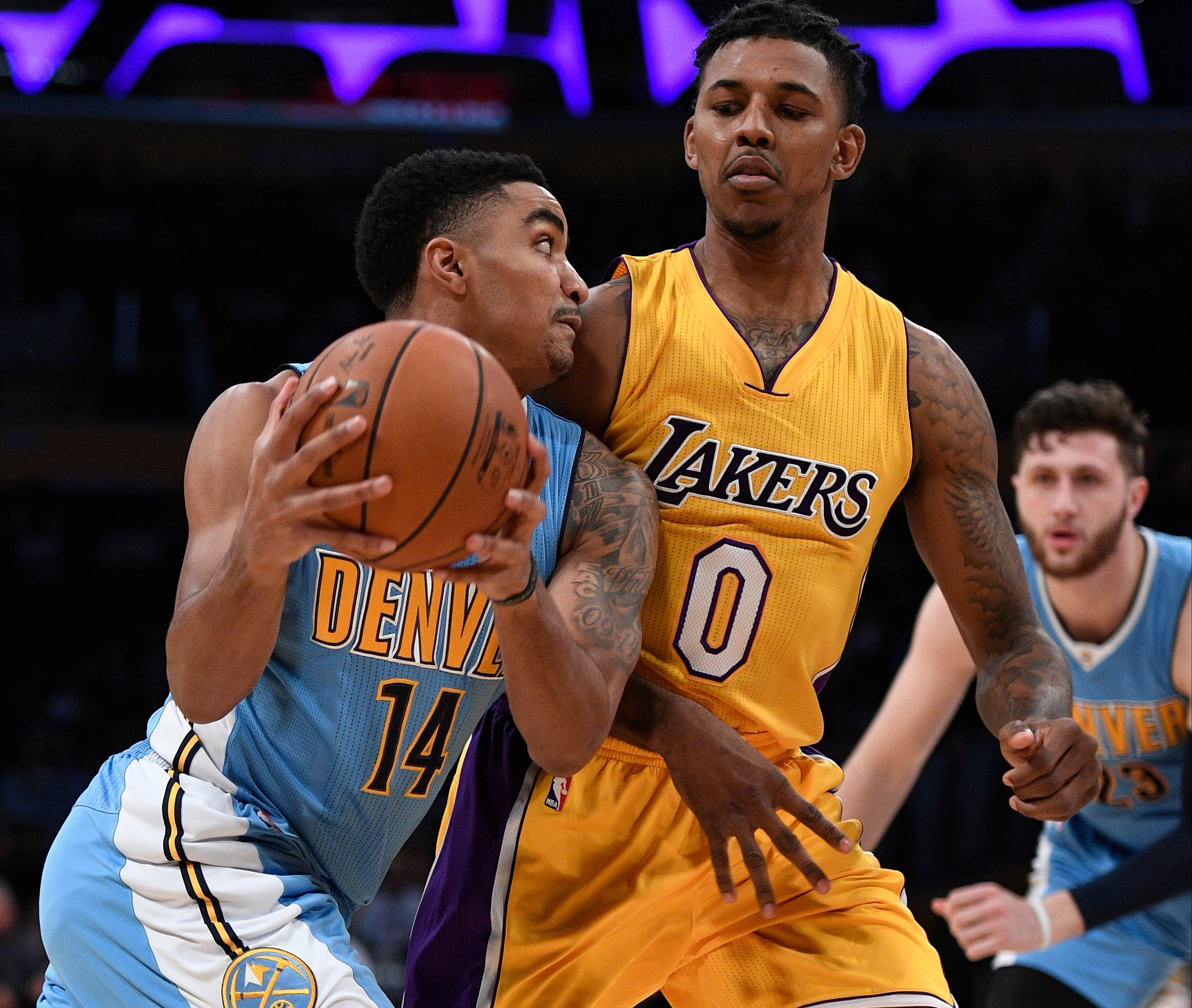 Lakers Hang On To Beat The Denver Nuggets