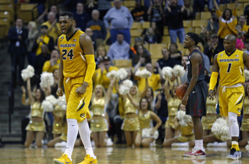 NCAA Basketball: Arkansas at Missouri