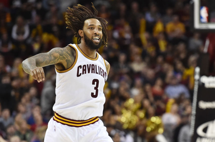Feb 11 2017 Cleveland OH USA Cleveland Cavaliers forward Derrick Williams reacts during the second half against the Denver Nuggets at Quicken Loans Arena. The Cavs won 125-109. Mandatory Credit Ken Blaze-USA TODAY Sports