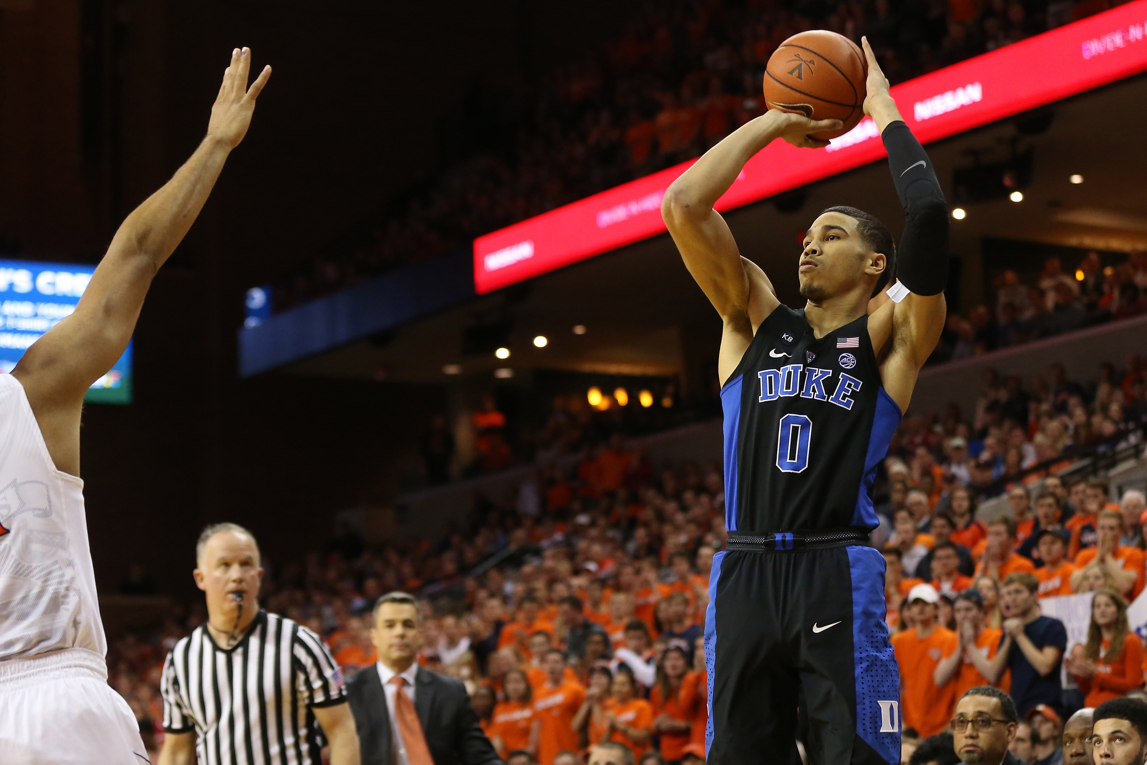 jayson tatum leads duke basketball over virginia