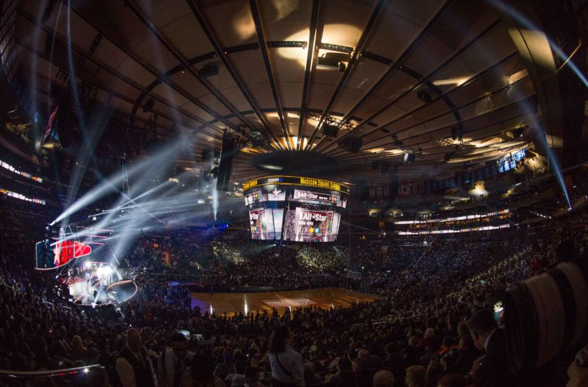 February 15, 2015; New York, NY, USA; General view of Madison Square Garden before the 2015 NBA All-Star Game. Mandatory Credit: Kyle Terada-USA TODAY Sports