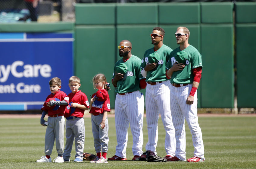 philly sports phillies philadelphia left field lineup match week