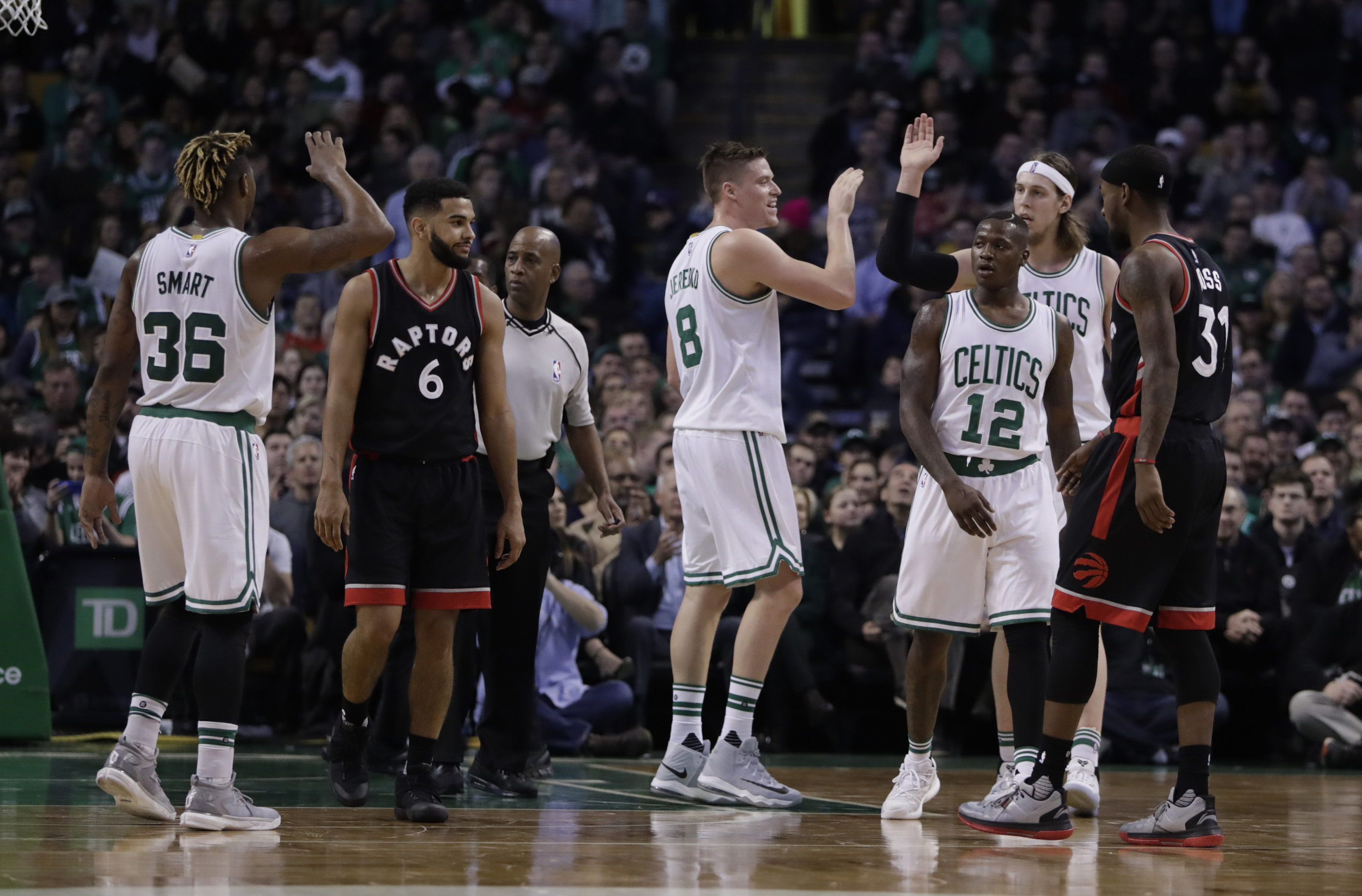 Celts top Nets, lead East with one game left