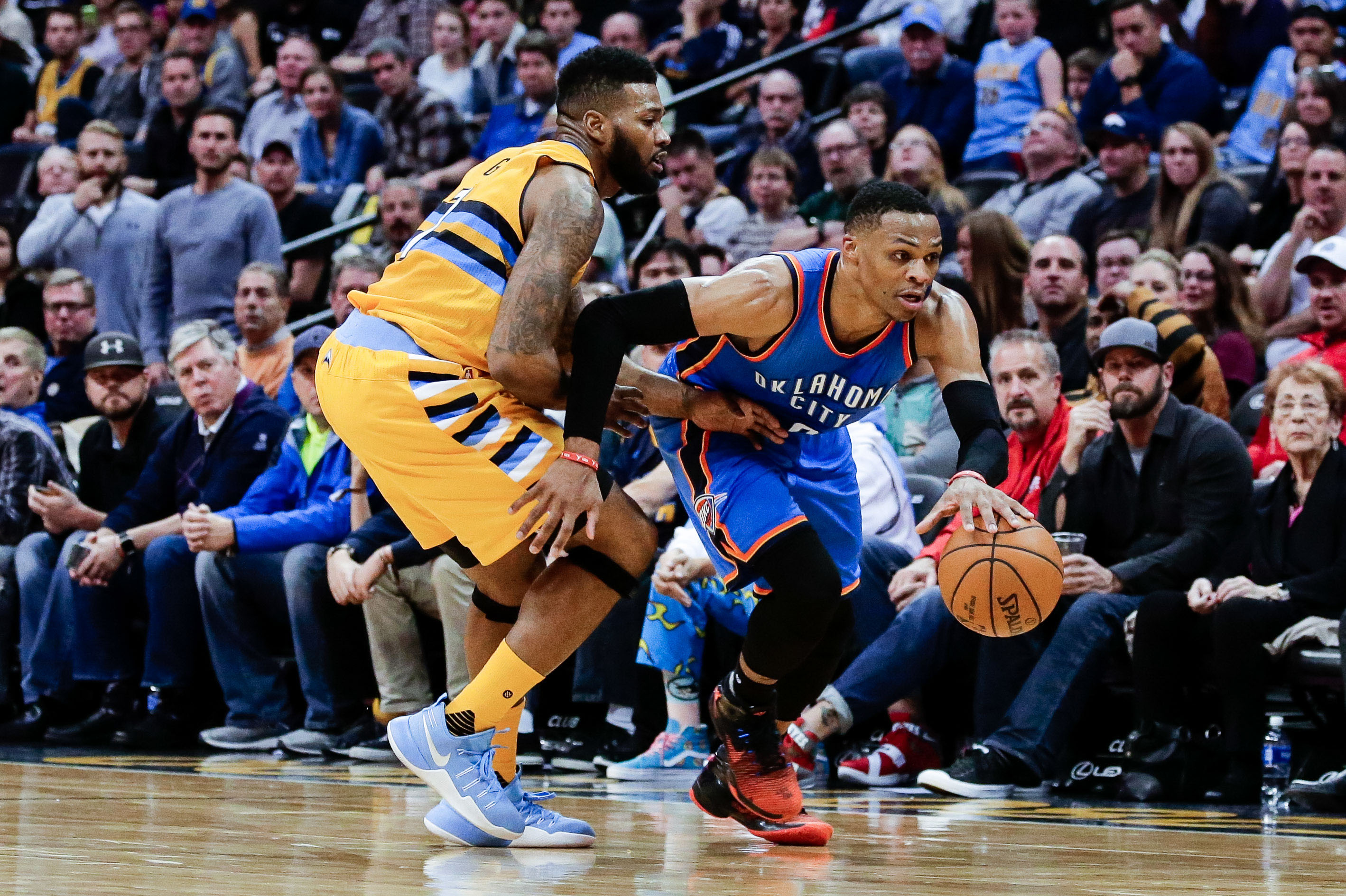 Russell Westbrook sets triple-double record, Thunder beat Nuggets