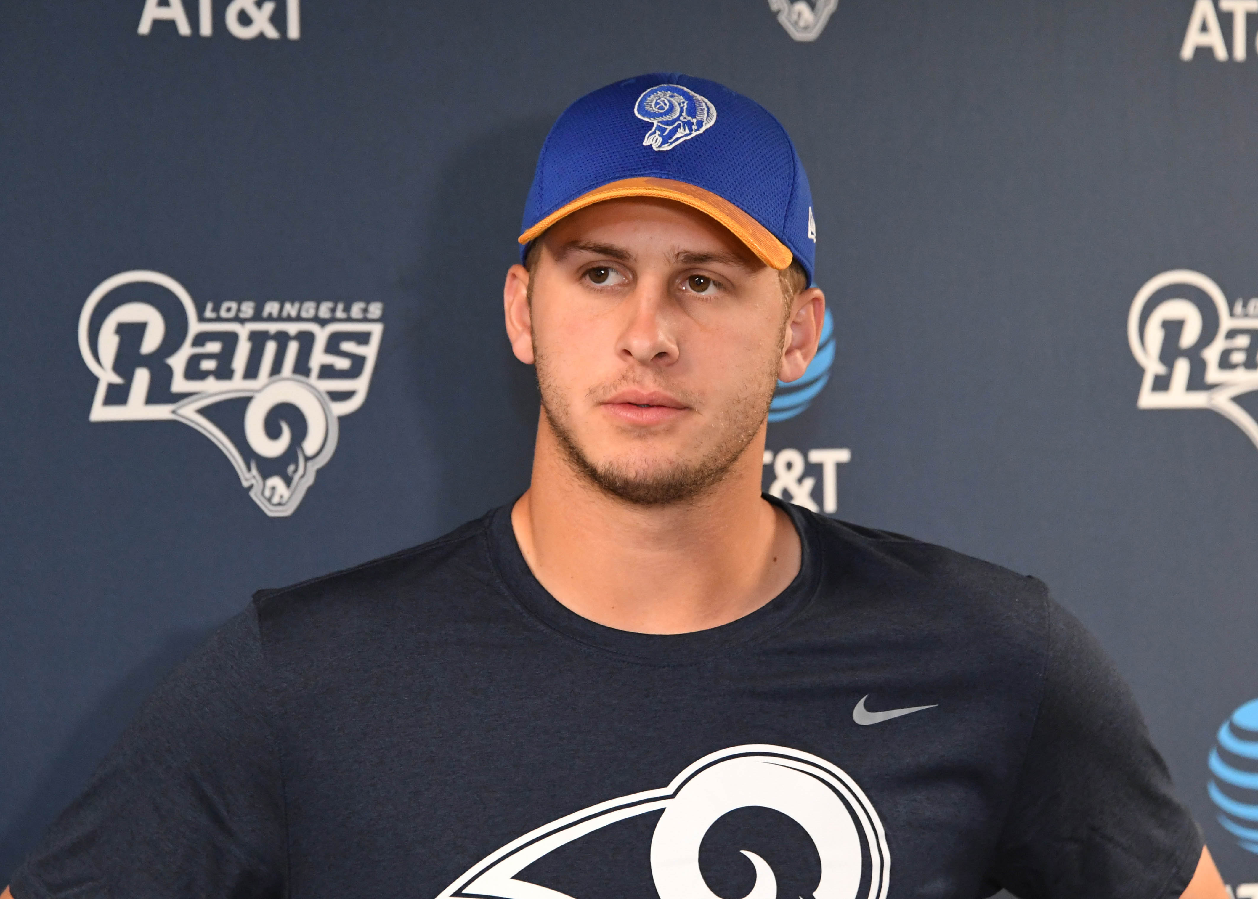 Rams news goff building chemistry with new offensive weapons for Goff pictures